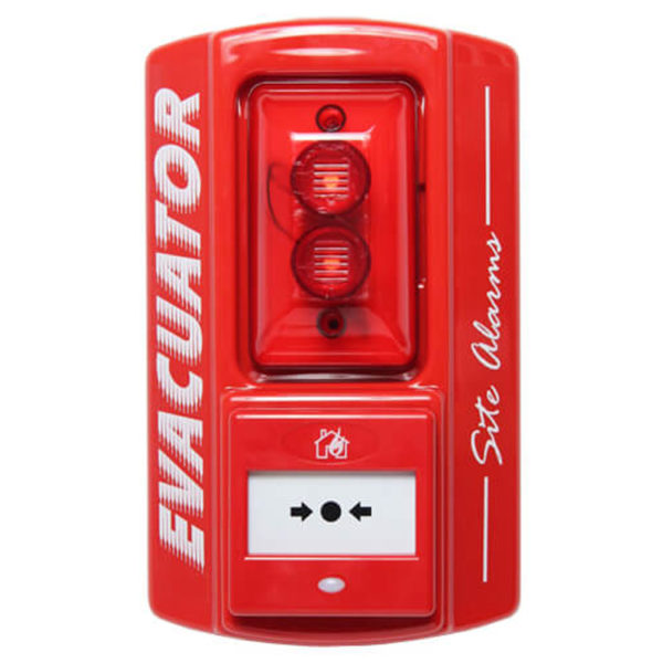 Evacuator Site Master Alarm with Break Glass