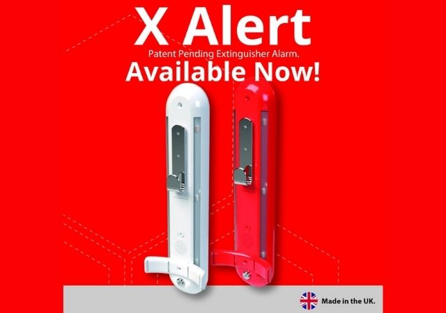 X Alert fire extinguisher vandalism protection