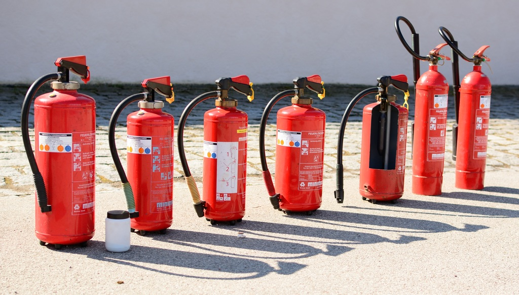 different fire extinguisher types