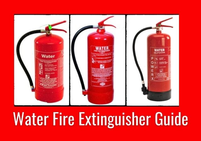 Various water fire extinguishers